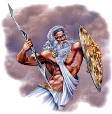 Zeus: ok-looking abs, freaky-looking lat muscles, bad posture, and reputed to be a real jerk.